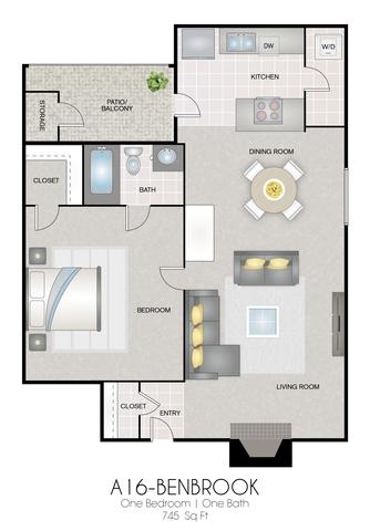 A16: Benbrook floor plan