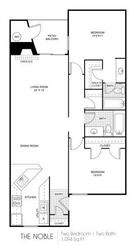 Noble floor plan