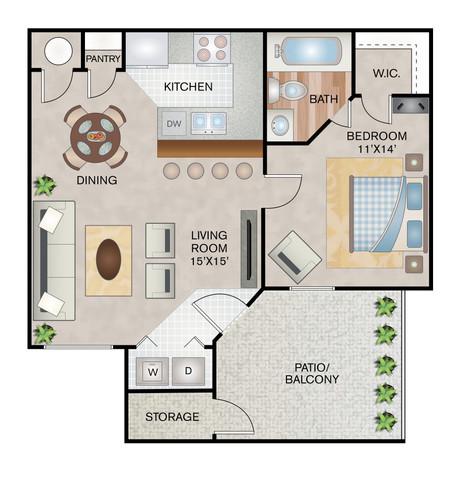 Arrow floor plan