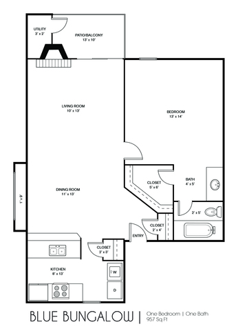 Blue Bungalow floor plan