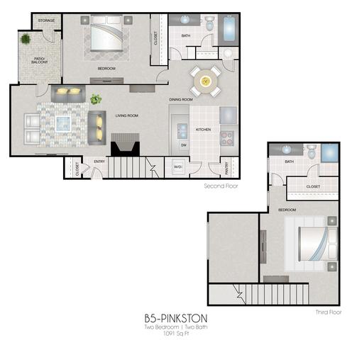 B5: Pinkston floor plan