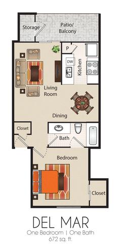 Del Mar floor plan