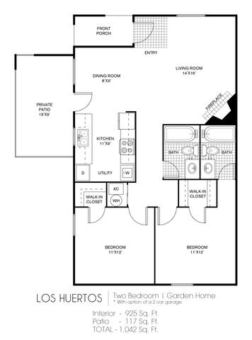 Los Huertos floor plan