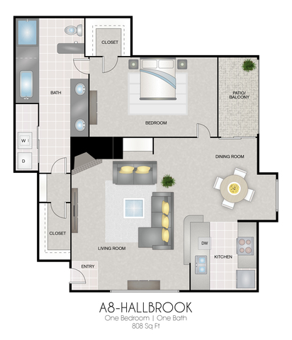 A8: Hallbrook floor plan