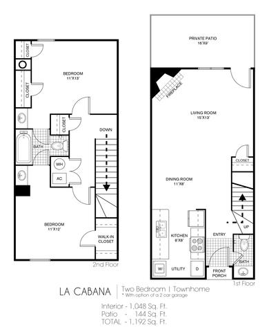 La Cabana floor plan