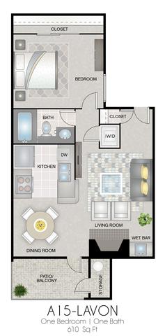 A15: Lavon floor plan