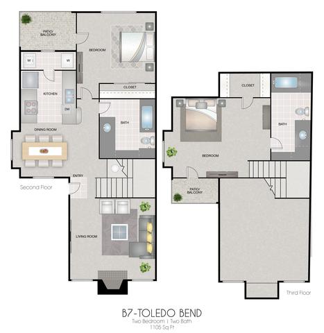 B7: Toledo Bend floor plan