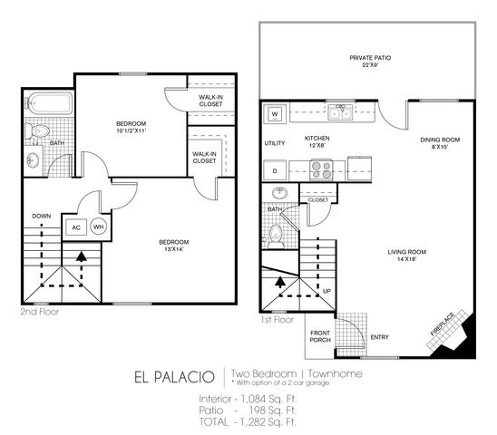 El Palacio floor plan