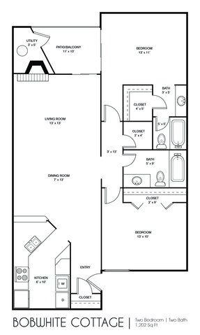 Bobwhite Cottage floor plan