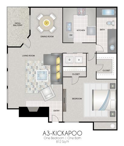 A3: Kickapoo floor plan