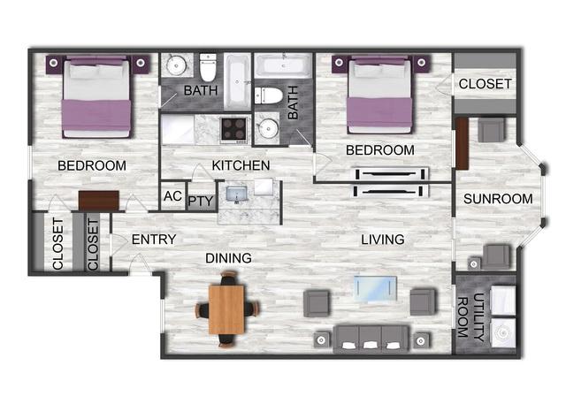Kims Cottage floor plan