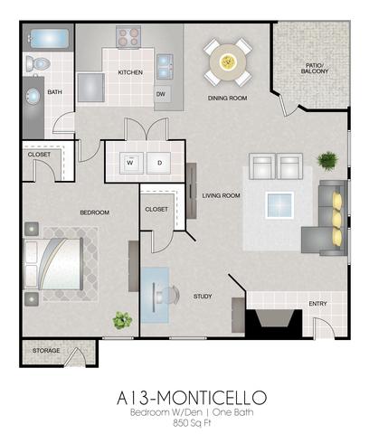 A13: Monticello floor plan