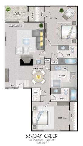 B3: Oak Creek floor plan