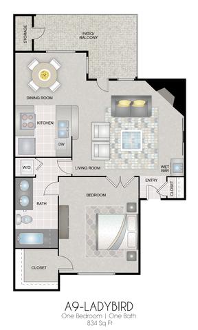 A9: Ladybird floor plan