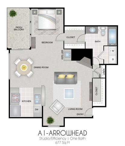 A1: Arrowhead floor plan