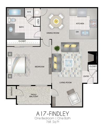 A17: Findley floor plan
