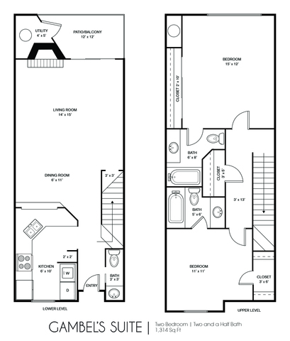 Gamble's Suite floor plan