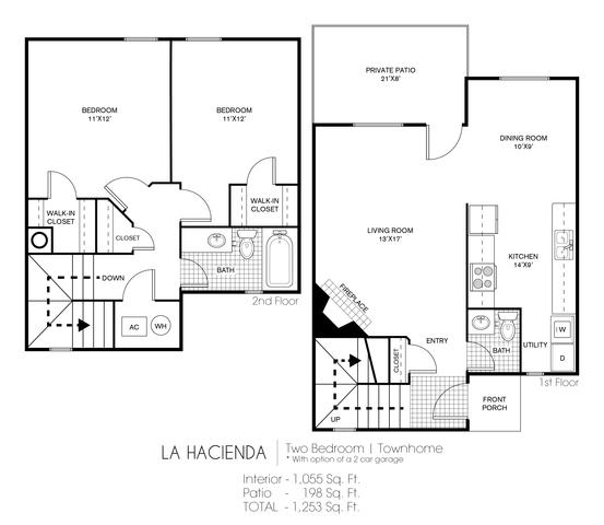 La Hacienda floor plan