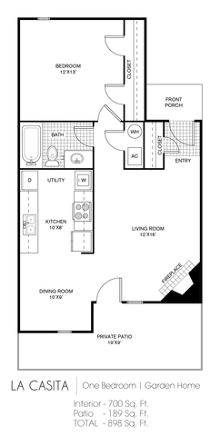 La Casita floor plan