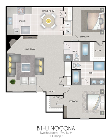 B1-U: Nocona floor plan