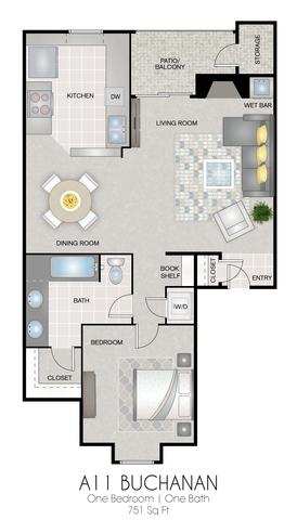 A11: Buchanan floor plan