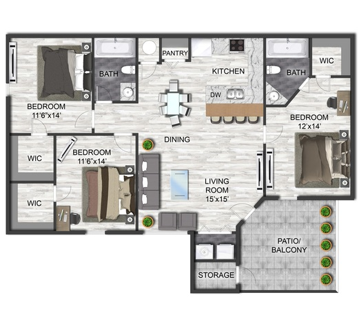Decker floor plan